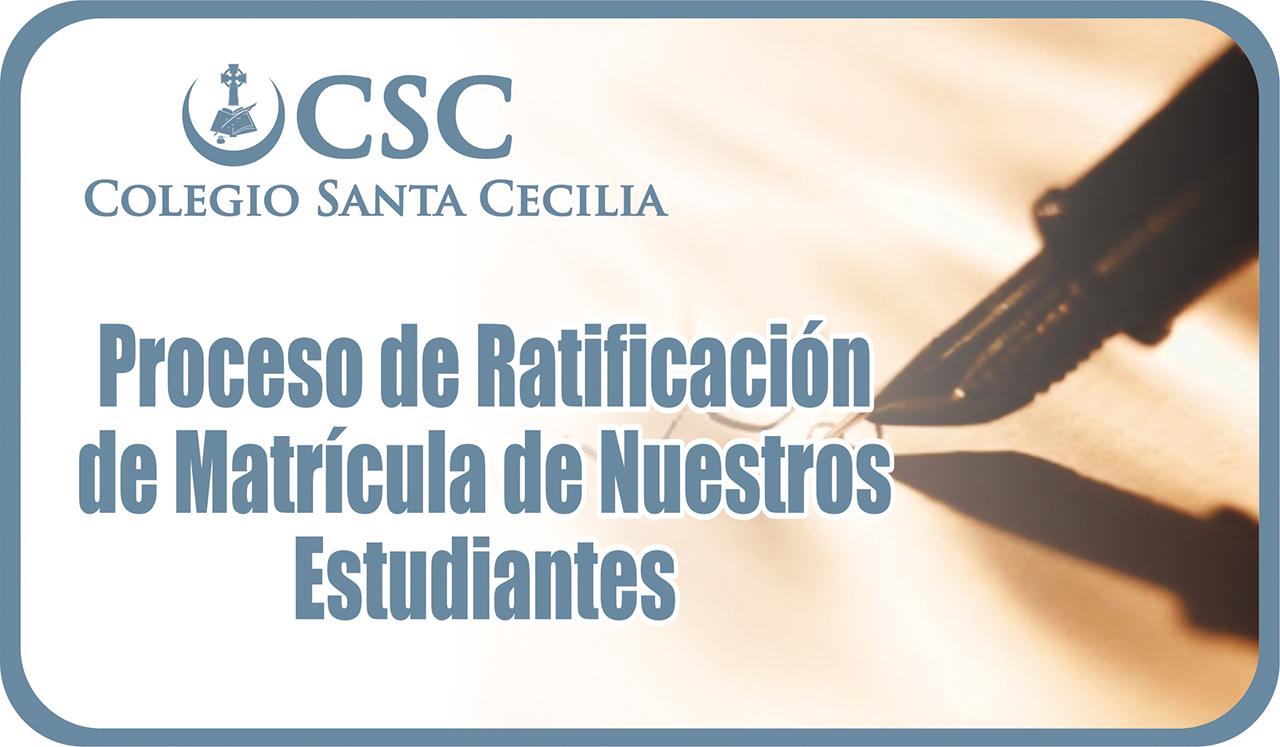Proceso de Ratificación de matricula de nuestros estudiantes